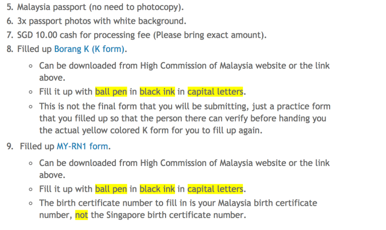 Tips] Renunciation of Malaysian Citizenship in Singapore – The